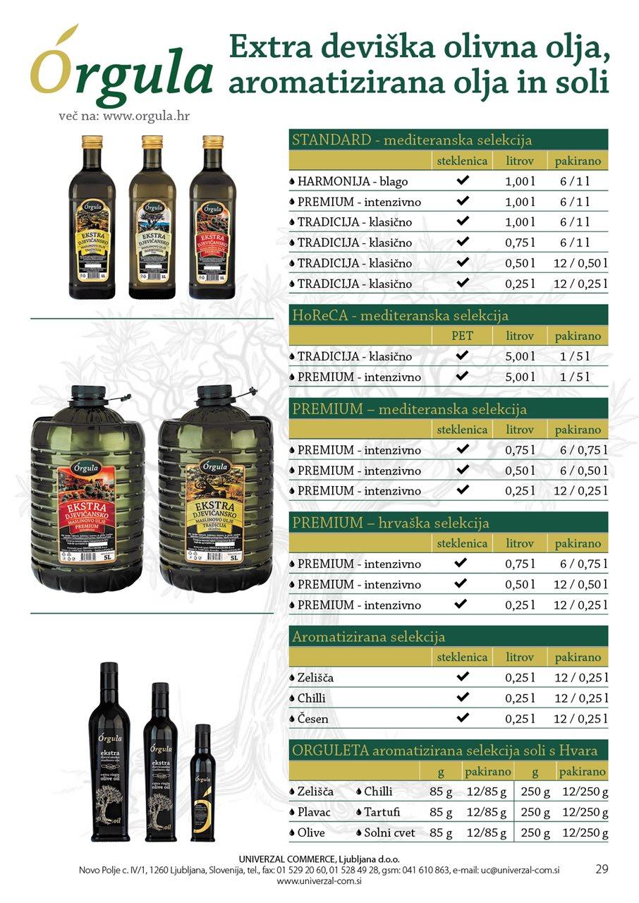 UC19 Orgula extra deviška olja,aromatizirana in soli PQ29